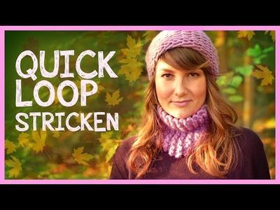 Quick Loop stricken für Anfänger *We Are Knitters Set*