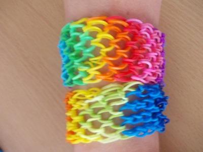 Rainbow Loom Bands Anleitung deutsch - Drachen Armband (sechsfach) - Dragon Bracelet tutorial