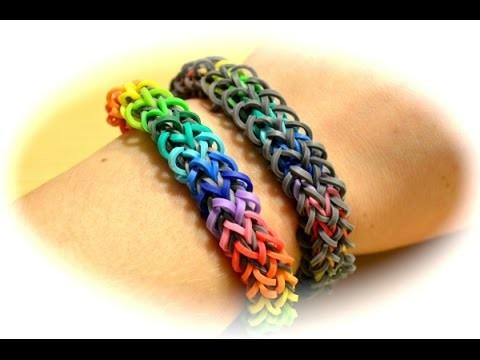 Rainbow Loom Regenbogen Armband (deutsche Anleitung)