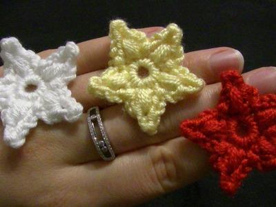 Stern häkeln - einfach und schnell - Weihnachtsstern - Weihnachtsdeko - Häkelstern