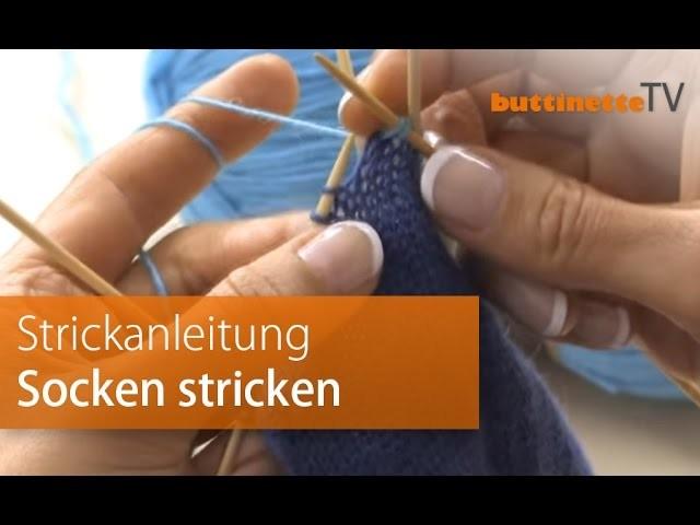 Anleitung Socken stricken