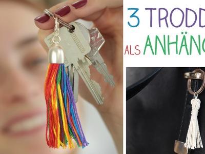 DIY 3 Troddel Accessoires Ketten, Schlüssel, Taschen - Anhänger Geschenk, Muttertag - alive4fashion