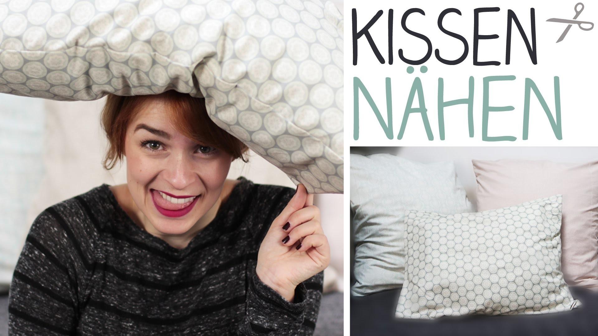 DIY Kissenbezug nähen für Anfänger ohne Reißverschluss oder Knöpfe - Schlupfbezug - alive4fashion