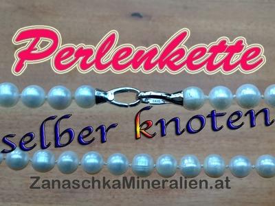 DIY Perlenkette knoten - Schmuck selber machen - Kette knüpfen - Halskette