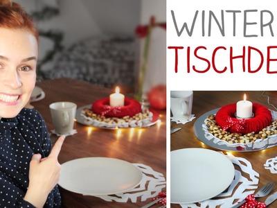 DIY TISCHDEKO Winter Weihnachten - Kerzenkranz, Filz Tischsets - alive4fashion