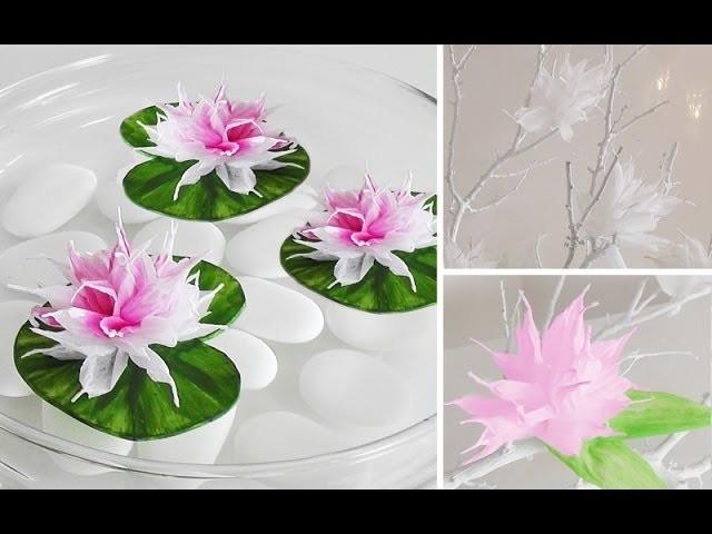 DIY: Wunderschöne Blüten aus Krepp-Papier einfach selber machen | Deko Kitchen