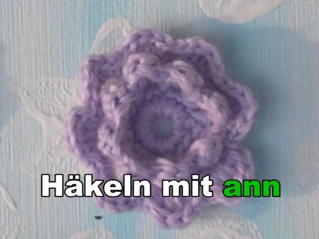 Eine 3 D Blume häkeln