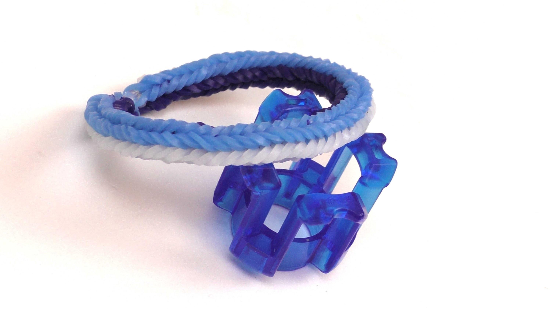 Fingerloom - 3 Pin Armband. Loom Armband selber machen. DIY Anleitung deutsch