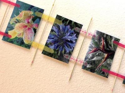 Fotowand selber machen - DIY FOTOWAND mit Fotos Erinnerungen Washi Tape