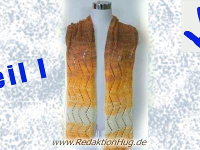 Knooking - Schal im Ajourmuster aus Arona von ONline-Garne Teil 1