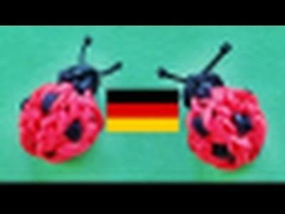 Loom Bandz Anleitung Deutsch : Marienkäfer (Rainbow Loom Deutsch)
