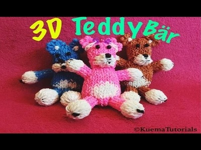 Rainbow Loom Teddy Bear 3D