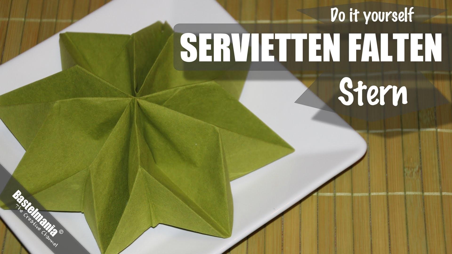 SERVIETTEN FALTEN Anleitung Stern Weihnachten DIY NAPKIN FOLDING Star Christmas
