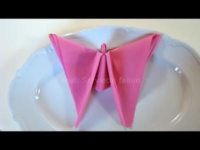 Servietten falten: Engel für Weihnachten - Tischdeko