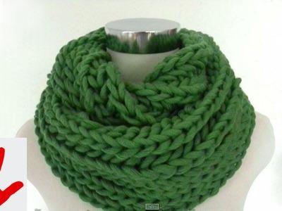 Stricken - Linkshänder - Schal im Patentmuster aus hatnut cool
