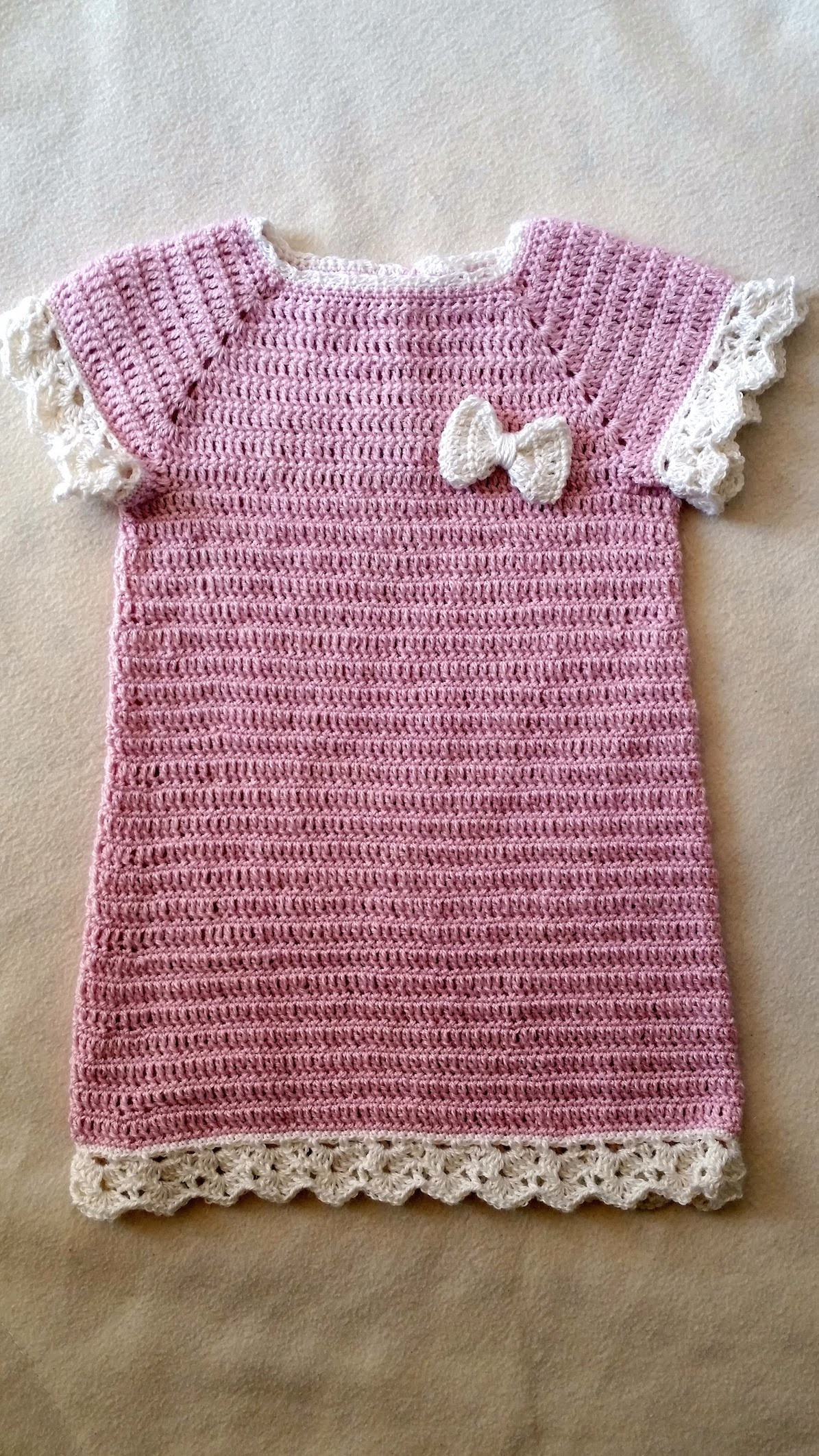 Taufkleid häkeln - Häkelkleid - Babykleid Teil 3. 6 by Berlin Crochet
