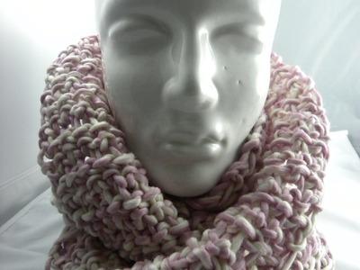 Tunesisch Häkeln - Loop oder Schal aus Schoppel-Wolle