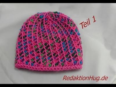 Tunesisch Häkeln - Mütze - Häkelmütze 48 cm KopfumfangTeil 1 - Veronika Hug
