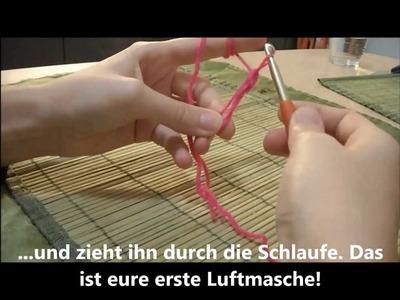 Tutorial Fadenring häkeln - Grundlage für die einfache Häkelblume - Anfänger