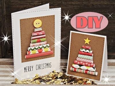 Weihnachtskarten selber basteln #3 - Weihnachtsbaum - Christmas Card DIY