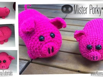 Amigurumi Schwein '''Mister PORKY''   ( PIG ENG SUB)
