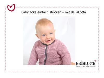 Babyjacke einfach stricken - für Anfänger