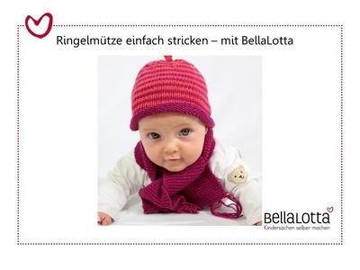 Babymütze einfach stricken - Mütze stricken für Anfänger