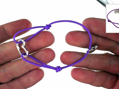 Bastelanleitung für ein Schiebeknoten Herz-Armband