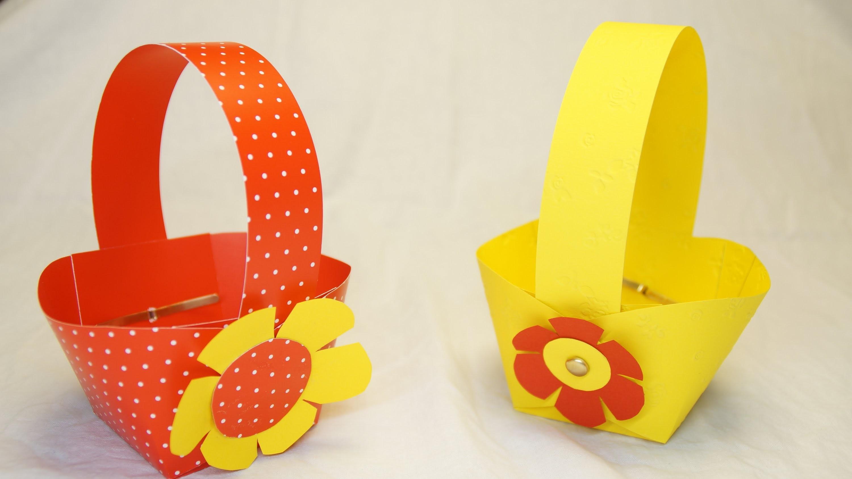 Basteln zu Ostern: Osterkorb. Osterkörbchen basteln. . How to make an Easter Basket!