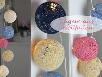 DIY - Kugeln für Lichterketten aus Wolle oder Häkelgarn. Cotton Balls