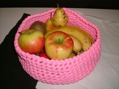 Eine schöne Schale für Obst usw.  Häkeln