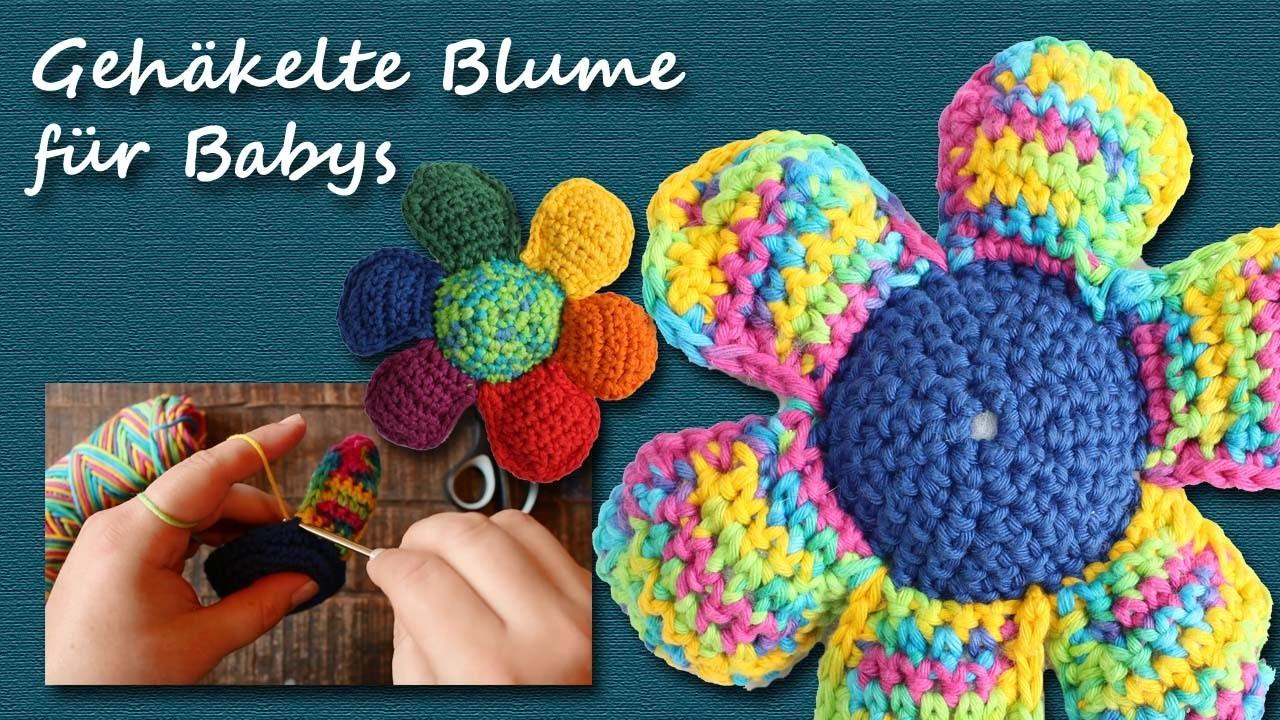 Gehäkelte Blume - Spielzeug für Babys