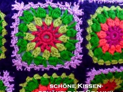 GRANNY SQUARES - Kissen - Kissenhülle - Kissenbezug - Muster - Anregungen