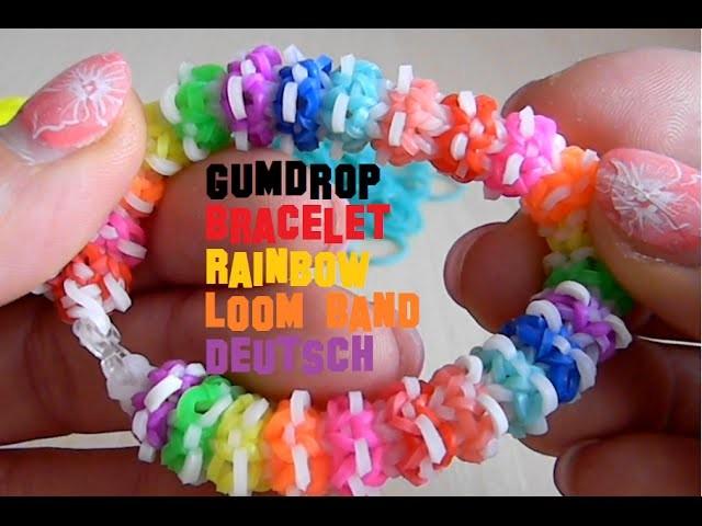 Gumdrop Bracelet Rainbow Loom Band Deutsch DIY