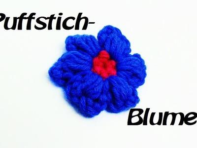 Häkeln Blume - Puffstich Muster - sehr schöner Effekt!