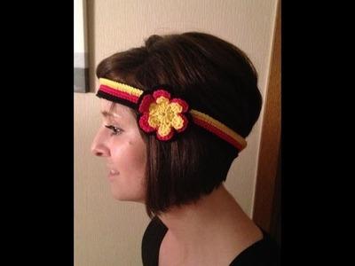 Häkeln - Weltmeisterschaft - Stirnband als Fanartikel - Deutschland