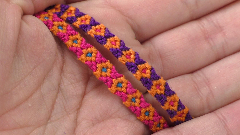 Knüpfen Diamanten Knüpfarmband. DIY Freundschaftsarmband. einfach. Frindship Bracelet. deutsch