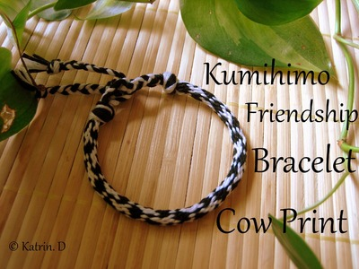 Kumihimo Friendship Bracelet Cow Print
