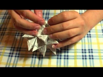 Origami - Bascetta Stern Anleitung - Bastelanleitung: Elemente zusammenstecken (Teil 2.2)