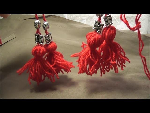 Quasten Pompons aus Wolle selber machen.How to make wool tassels. Pomponiki z welny.