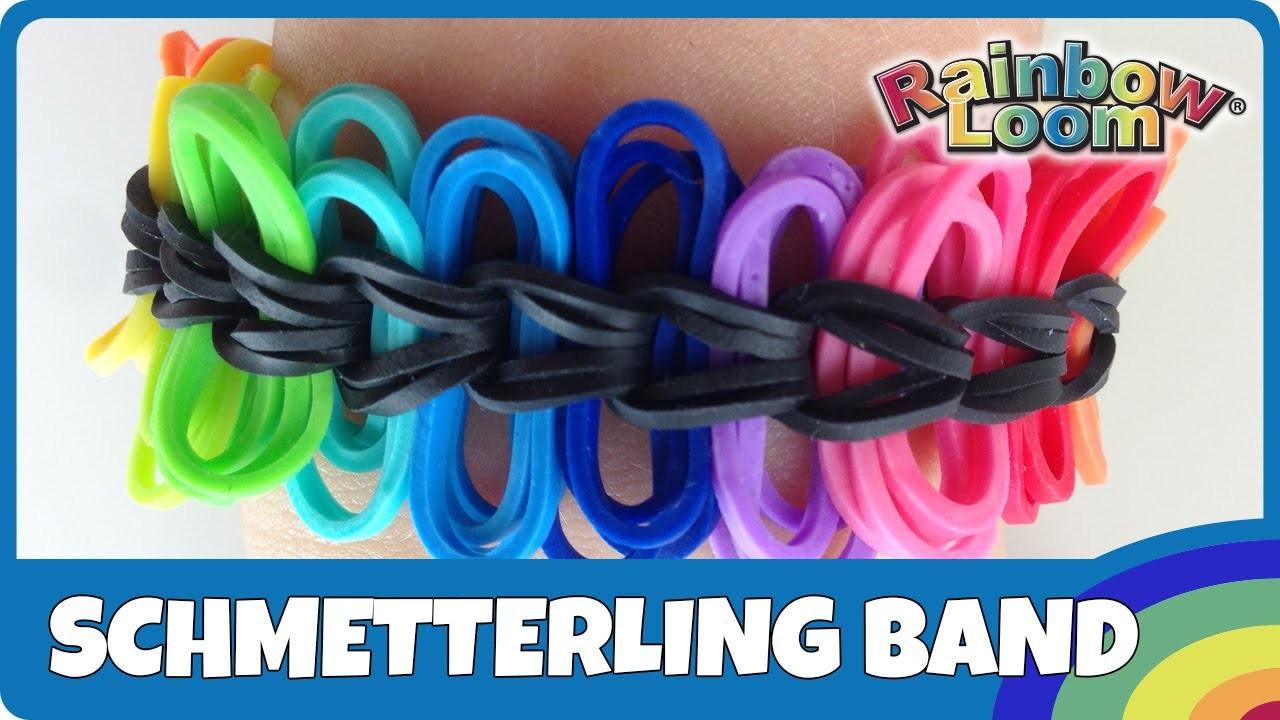 Rainbow Loom Schmetterlings-Armband - deutsche Anleitung