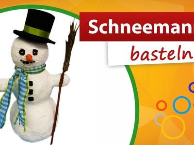 Schneemann basteln - Schneemann aus Styropor | trendmarkt24 Bastelideen