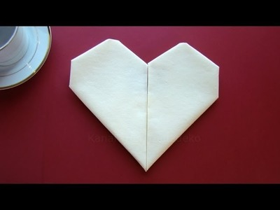 Servietten falten Herz - einfache Tischdeko zum Muttertag & Hochzeit