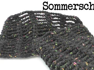Sommer Schal mit Luftmaschen Ketten ganz leicht & schnell gemacht - super luftig