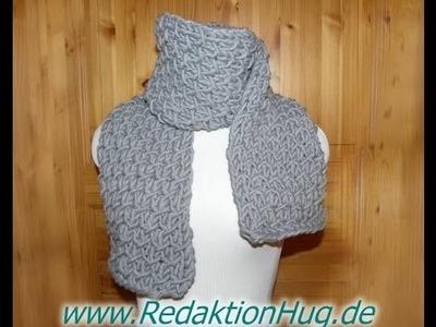 Stricken - Schal im Flechtmuster aus hatnut cool von Pro Lana