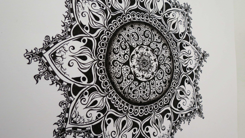 Zentangle Zeichnung #3 * Zeitraffer