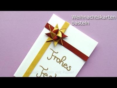 3D-Weihnachtskarten basteln - Bastelideen Weihnachten