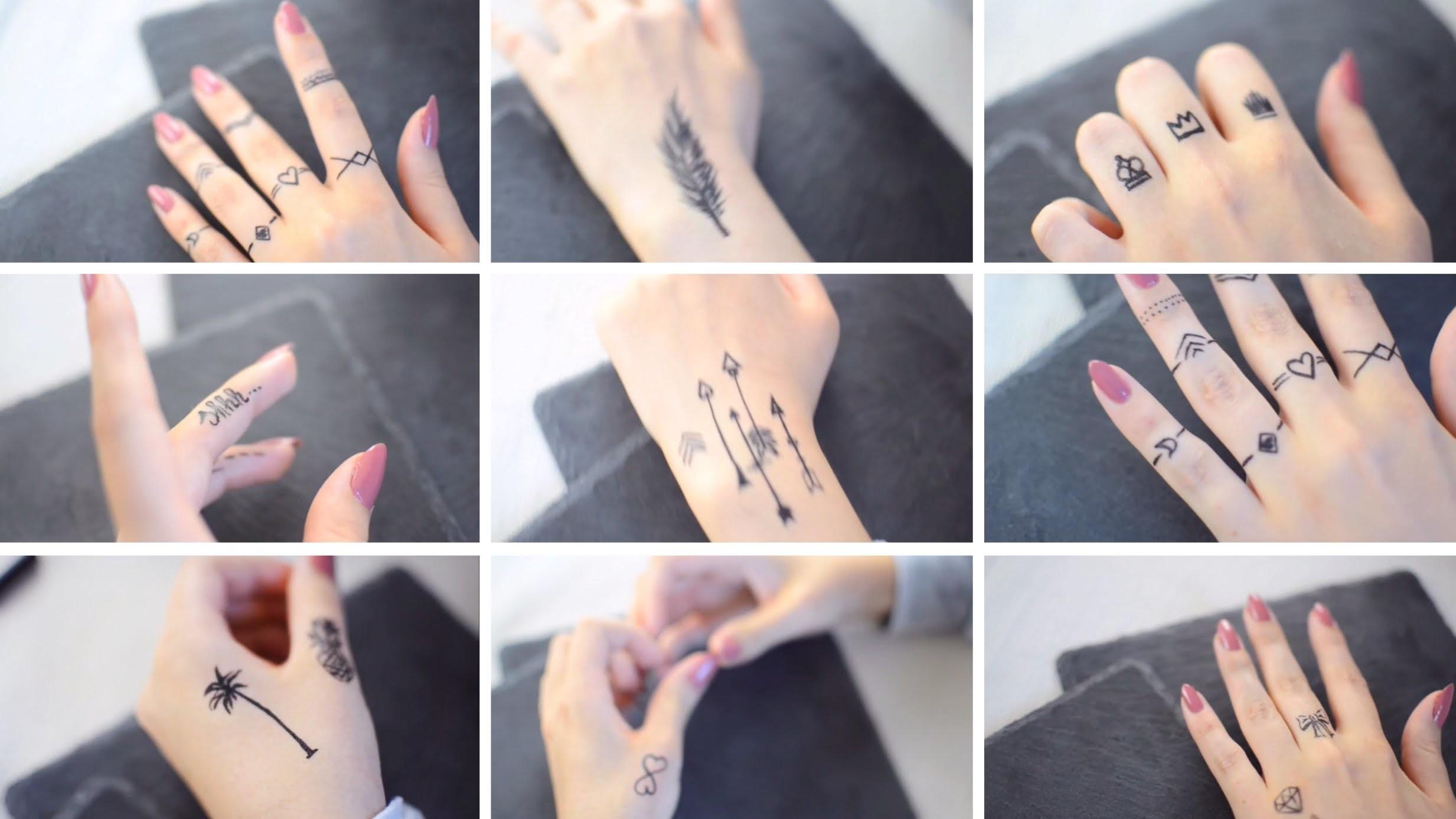 Henna Tattoo Einfach Klein: Temporary, Tattoostift, DIY, (Henna