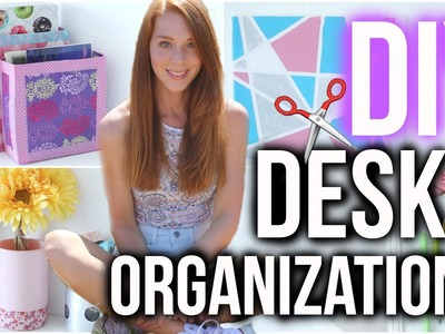 8 EASY DESK ORGANIZATION DIY's ♡ | Back to school | LaurenCocoXO