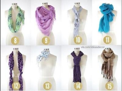 8 Möglichkeiten einen Schal zu binden
